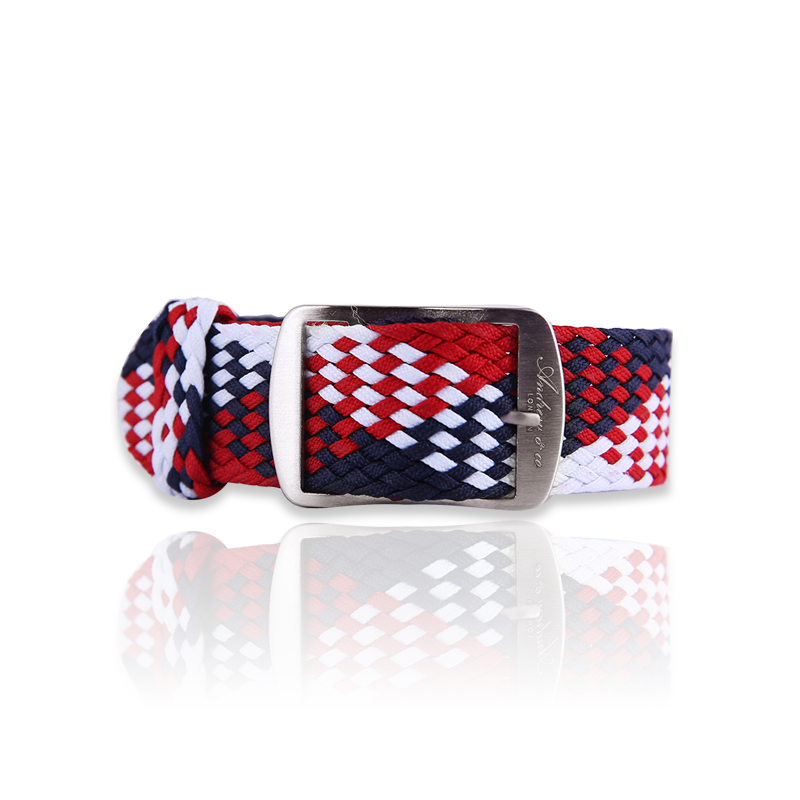 FABRIC STRAP Red & White